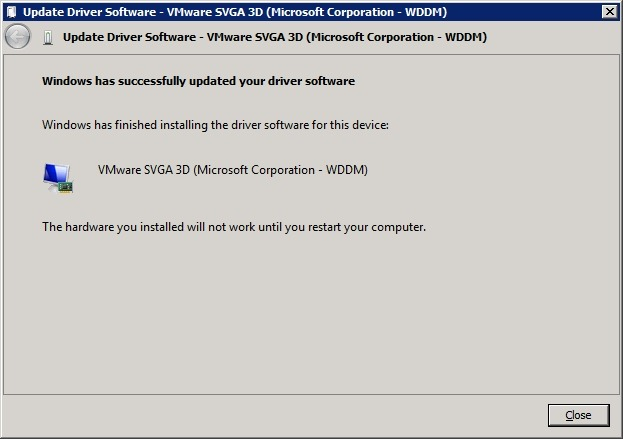 How to install intel graphics driver on vmware