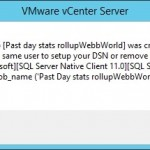 Installing vCenter 5.5 - Database job was created by another user